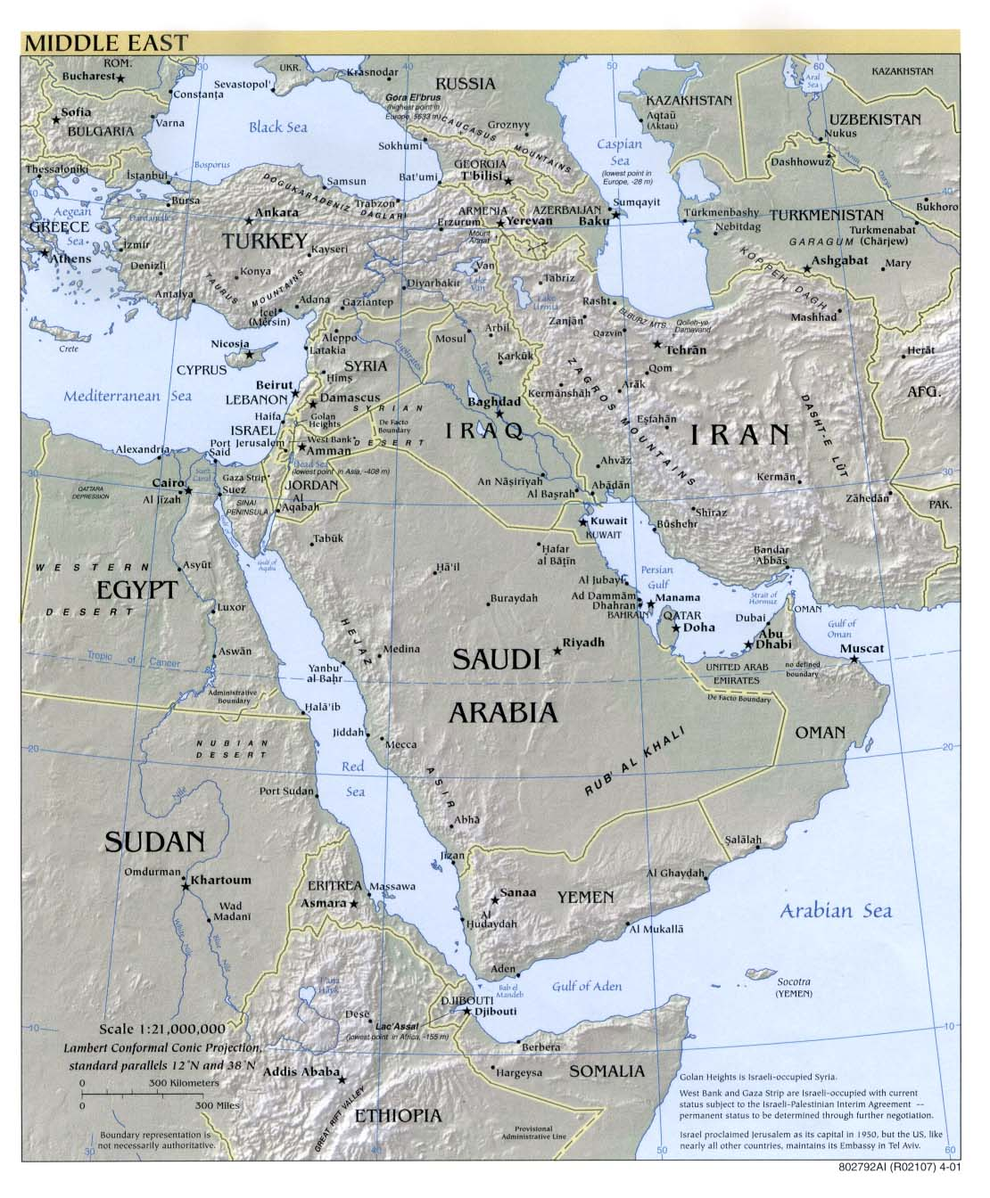 Middle East Map Saudi Arabia mappery