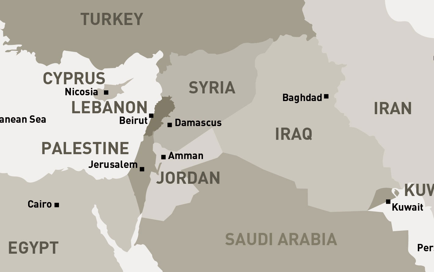 Middle East  North Map  Syria  mappery