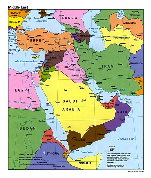 Middle East Political Map
