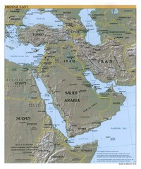 Middle East Reference Map