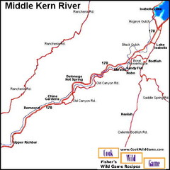 Middle Kern River Area Map