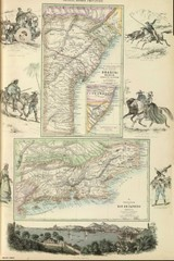 Middle Provinces of Brazil Map 1872