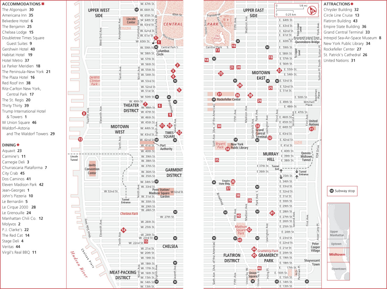 Midtown manhattan new york map see map details from toursinnewyork