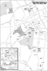 Midtown Nashville and West End Map