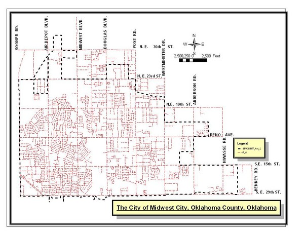 Midwest City Map  Midwest City Oklahoma  mappery