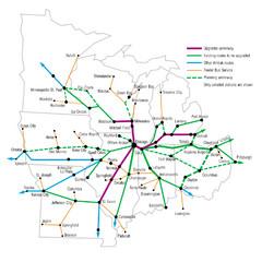 Midwest Direct Route Map