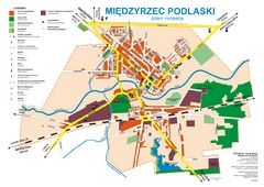 Miedzyrzec Podlaski Location Map (polish)