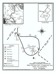 Milan Hill State Park Campground map
