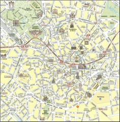 Milan Tourist Map