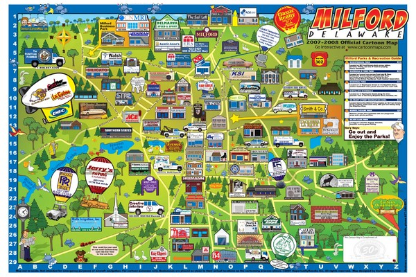 milford delaware cartoon map milford delaware mappery mappery