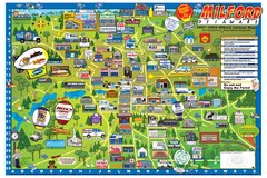 Milford Delaware Cartoon Map