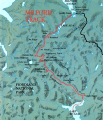 Milford Track Map