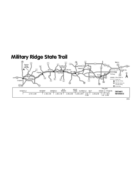 Military Ridge State Trail Map