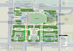 Millenuim Park Chicago Map