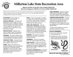 Millerton Lake State Recreation Area Campground Map