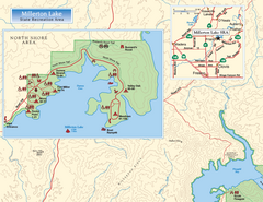 Millerton Lake State Recreation Area NW Map
