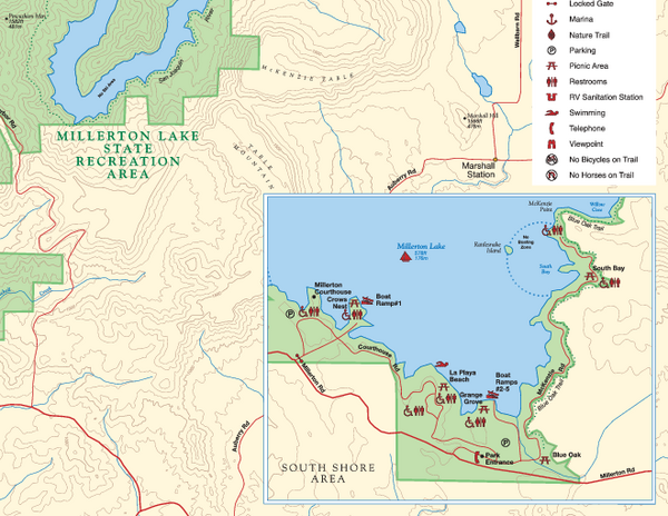 Millerton Lake State Recreation Area SE Map