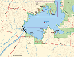 Millerton Lake State Recreation Area SW Map