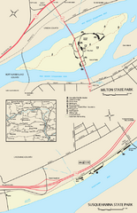 Milton State Park map