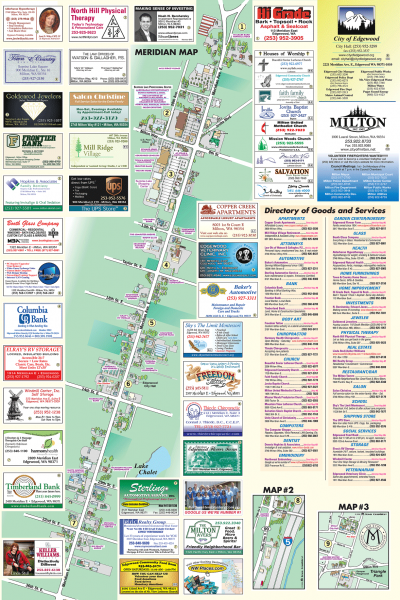 Milton tourist map