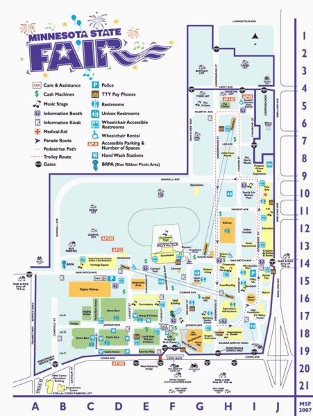Minnesota State Fair Map - 1265 Snelling Ave N St Paul MN 55108 ...
