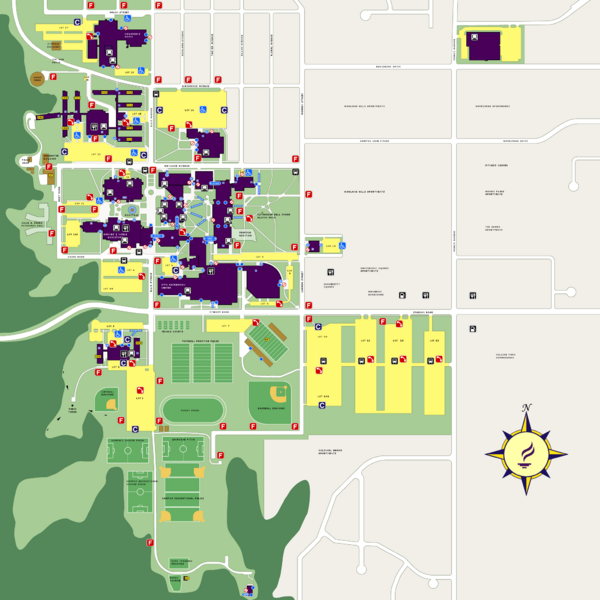 Fullsize Minnesota State University Mankato Campus Map