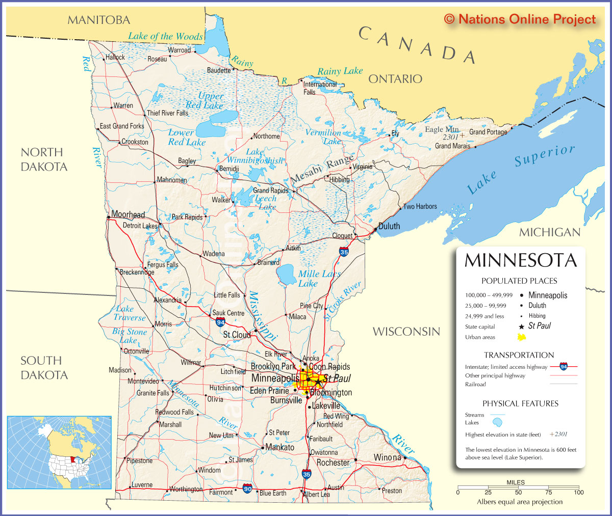 Minnesota Tourist Map MInnesota Mappery - Maps of minnesota