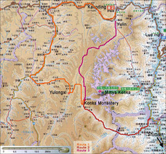 Minya Konka Trek Map