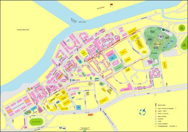 Miri City Map Miri Malaysia mappery