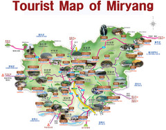 Miryang City Tourist Map
