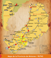 Misiones Province Map