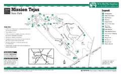 Mission Tejas, Texas State Park Facility, Trail...