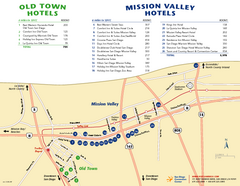 Mission Valley Tourist Map