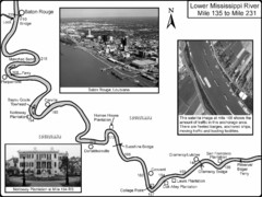 Mississippi River Mile 135 to Mile 231 Map