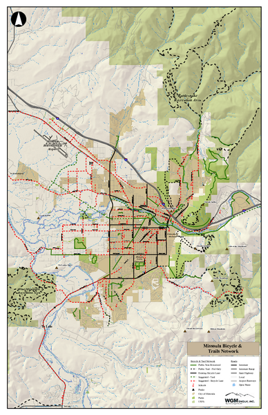 Missoula Bike Trails Map