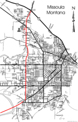 Missoula, Montana City Map