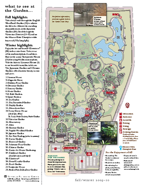 Missouri Botanic Gardens Map - St Louis MO • mappery