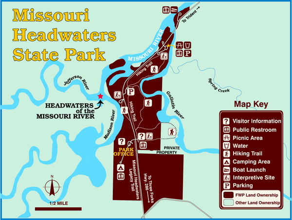 Missouri Headwaters State Park Map: Map Of Missouri State Parks At Codeve.org