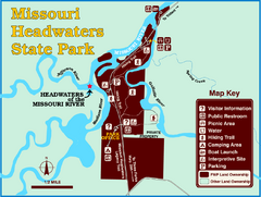 Missouri Headwaters State Park Map