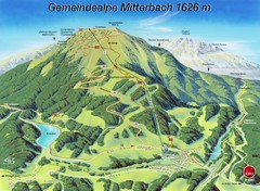Mitterbach-Gemeindalpe Summer Ski Trail Map