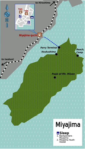 Miyajima Ferry Map