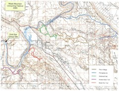 Moab Mountain Unicycling Festival Trail Map