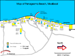Moalboal Tourist Map