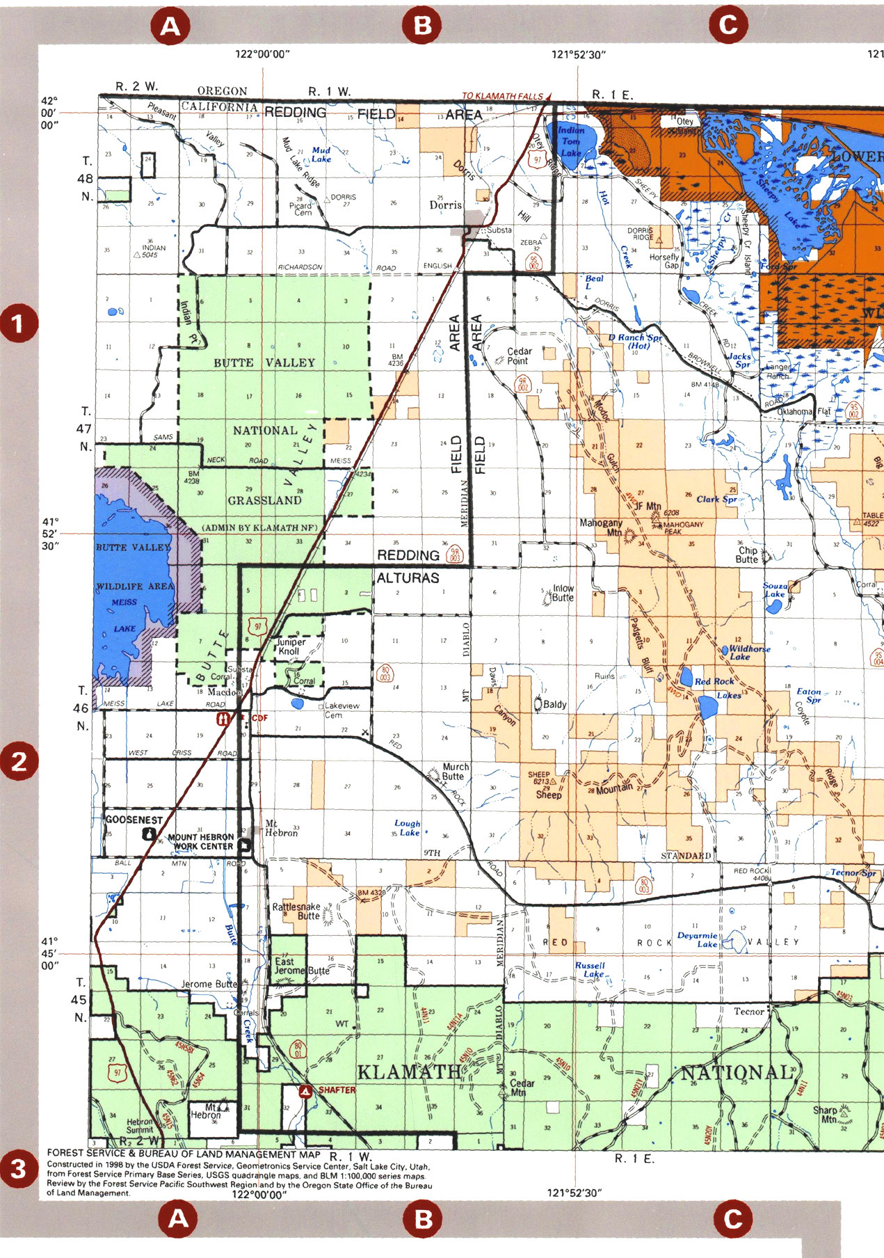 Modoc National Forest Map - Modoc California USA • mappery