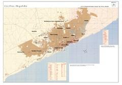 Mogadishu, Somalia Tourist Map