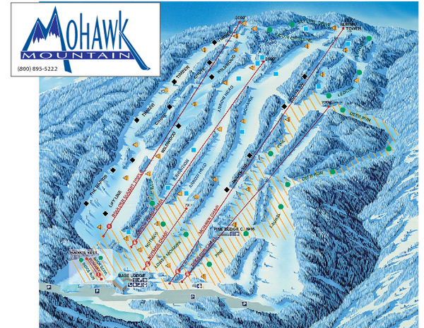 Mohawk Mountain Ski Trail Map