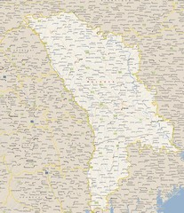 Moldova - Cities Map