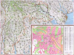 Moldova Topographical Map - South