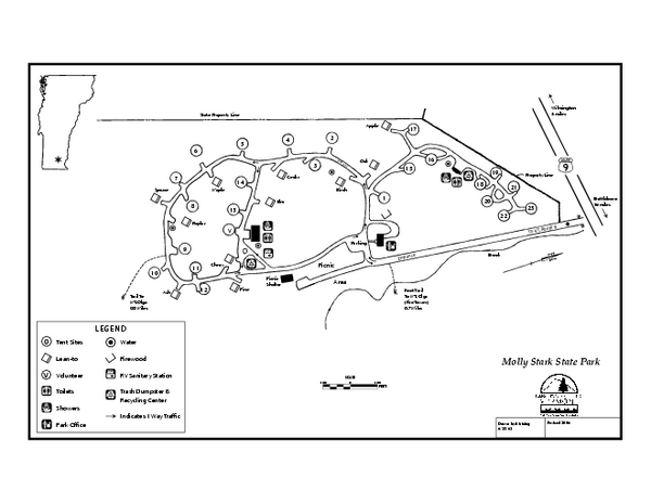 Molly Stark State Park Campground Map