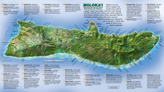 Molokai Tourist Map